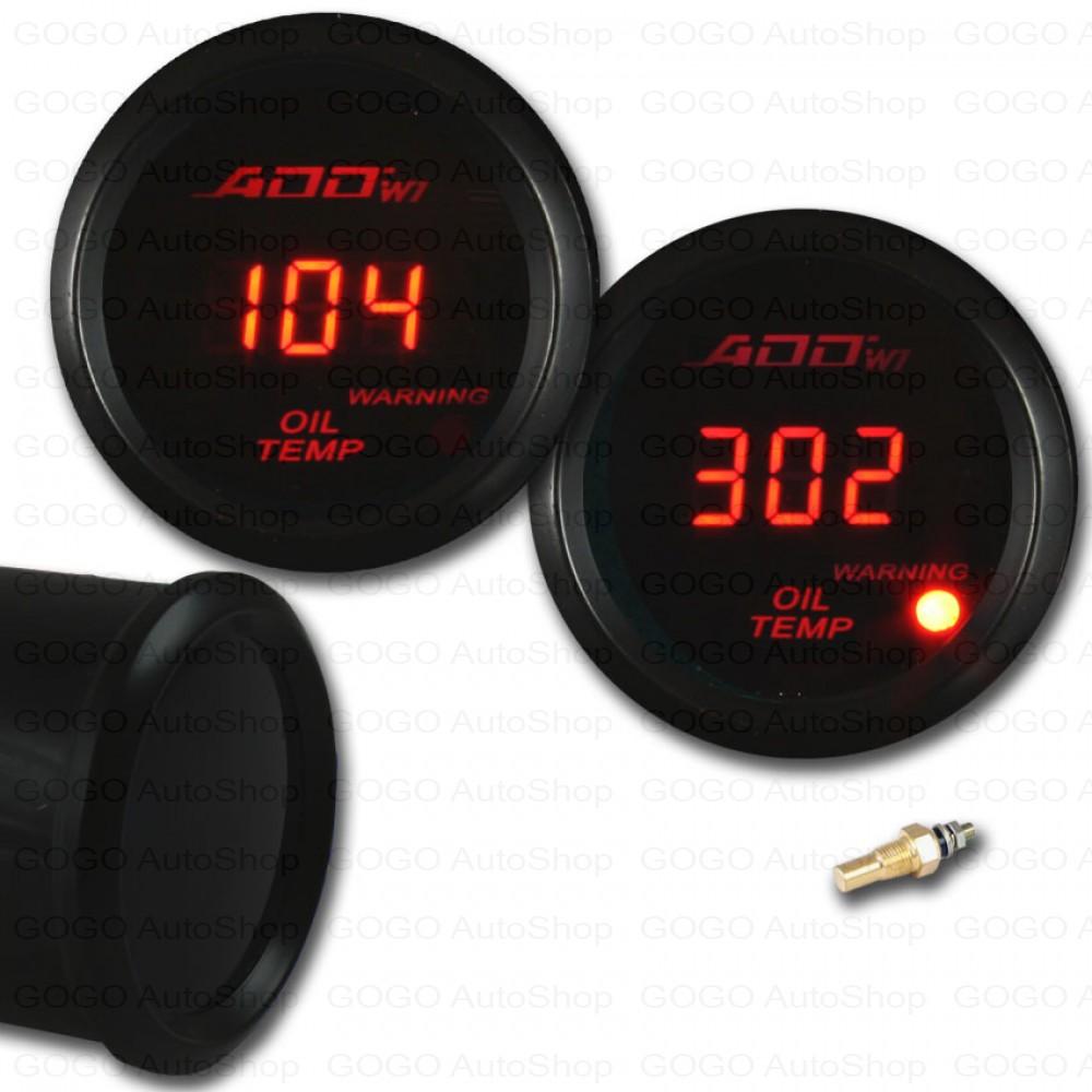ADD W1 Red Digital Oil temperature Gauge
